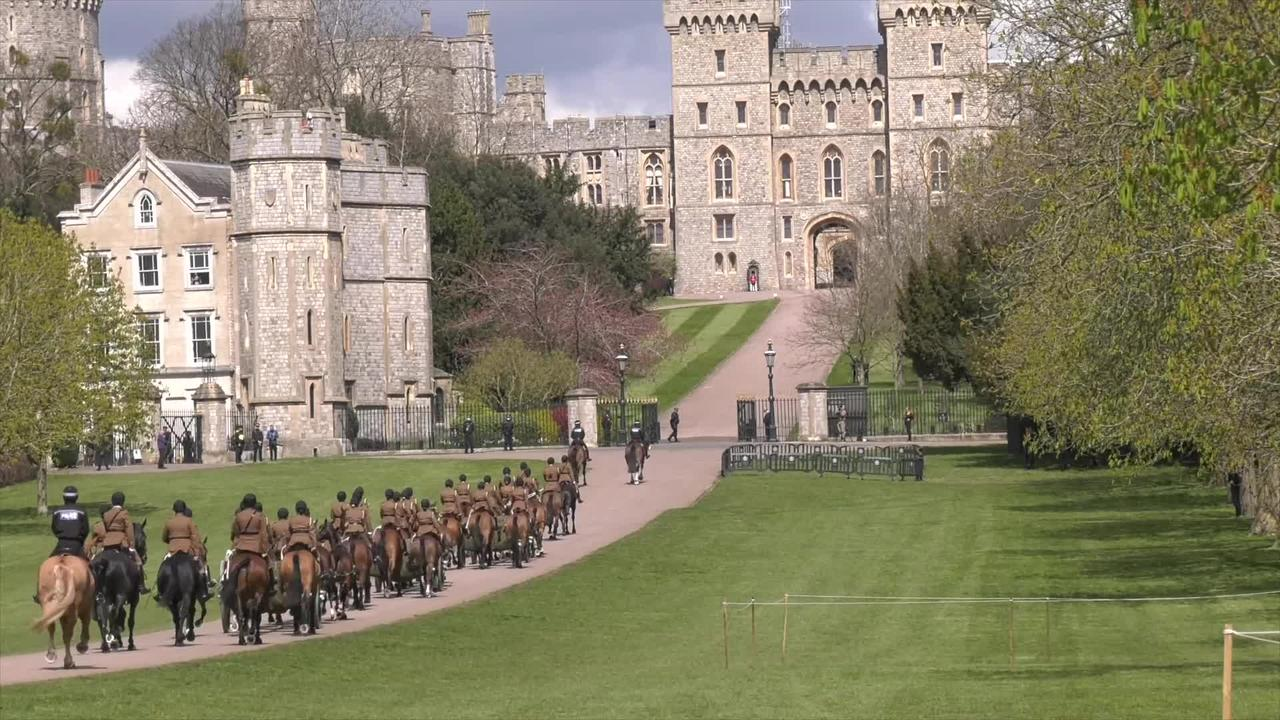 Duke of Edinburgh funeral procession rehearsal under way in Windsor