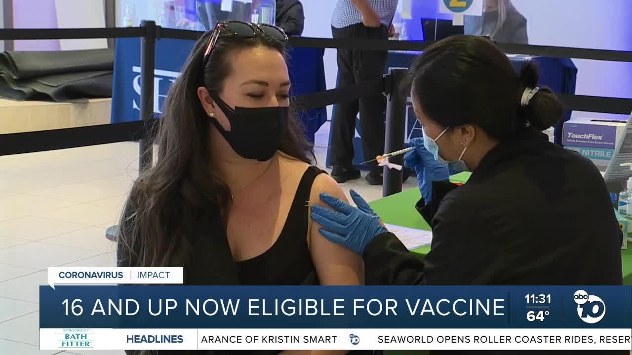 Vaccine eligibility widens in California