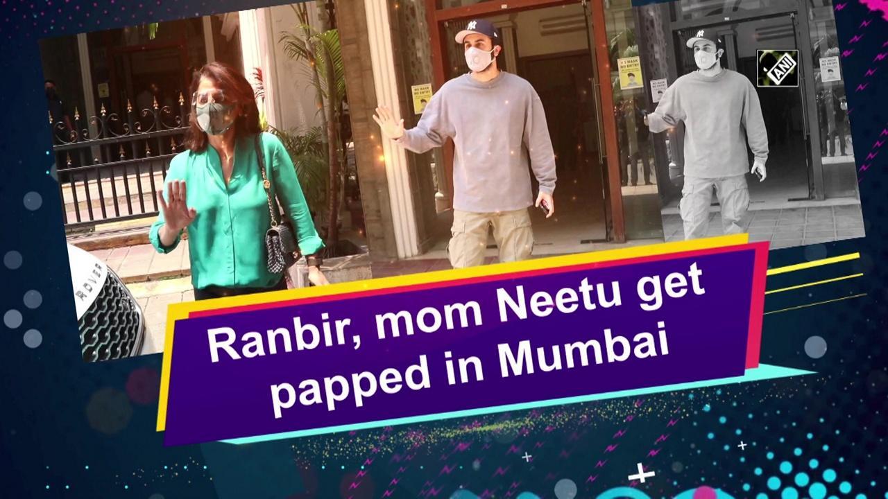 Ranbir, mom Neetu get papped in Mumbai