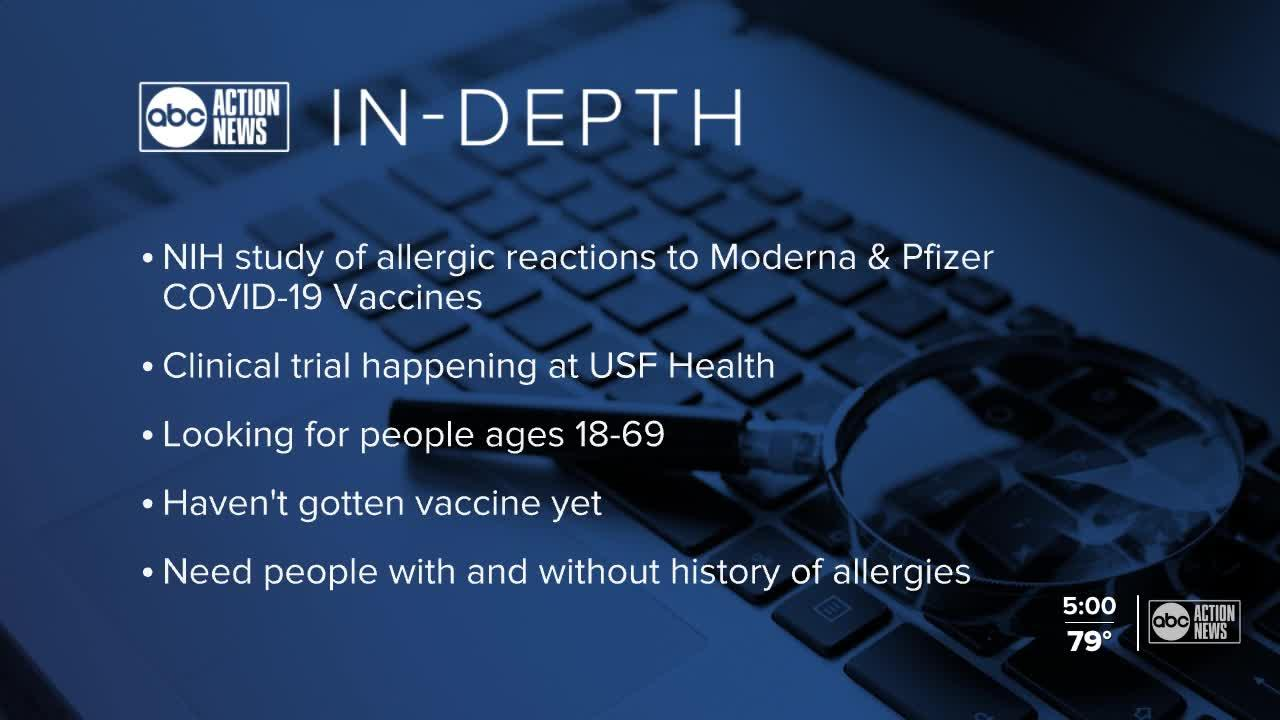 Vaccine study focuses on allergic reactions
