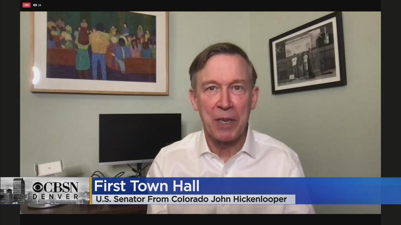 Sen. John Hickenlooper Discusses American Rescue Plan, Climate Change During First Town Hall