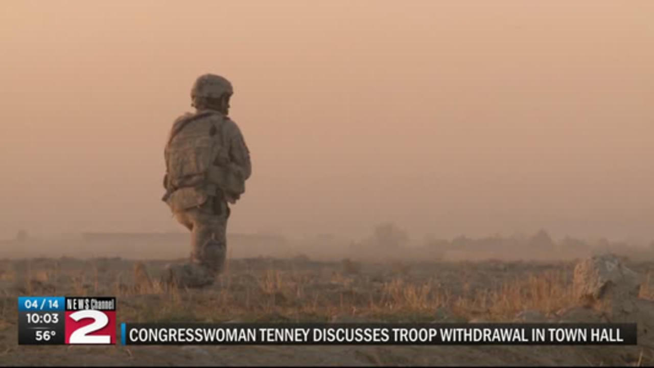 Congresswoman Claudia Tenney discusses troop withdrawal in virtual Town Hall