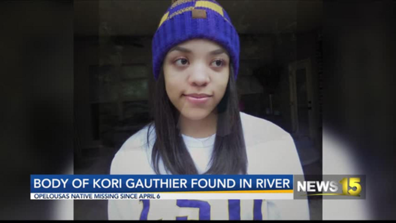 Body of Kori Gauthier found in river