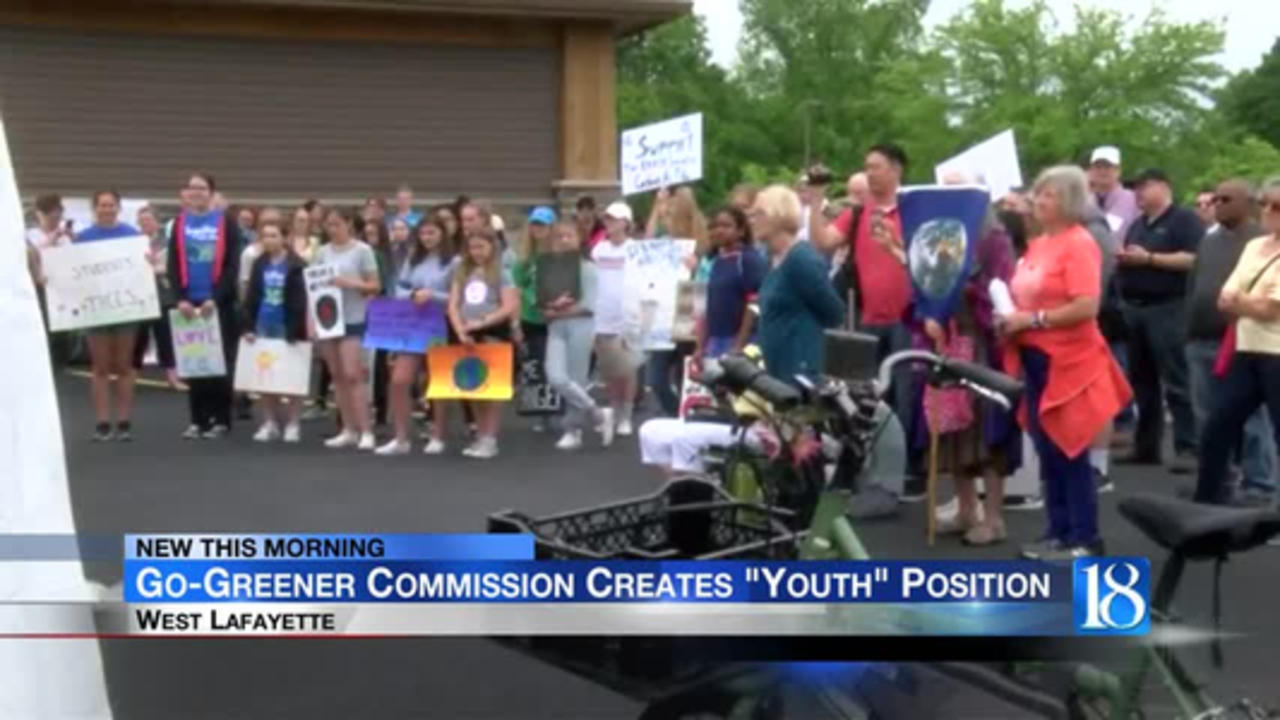 The West Lafayette Go-Greener Commission is seeking a high schooler to take on new 'Youth Commission