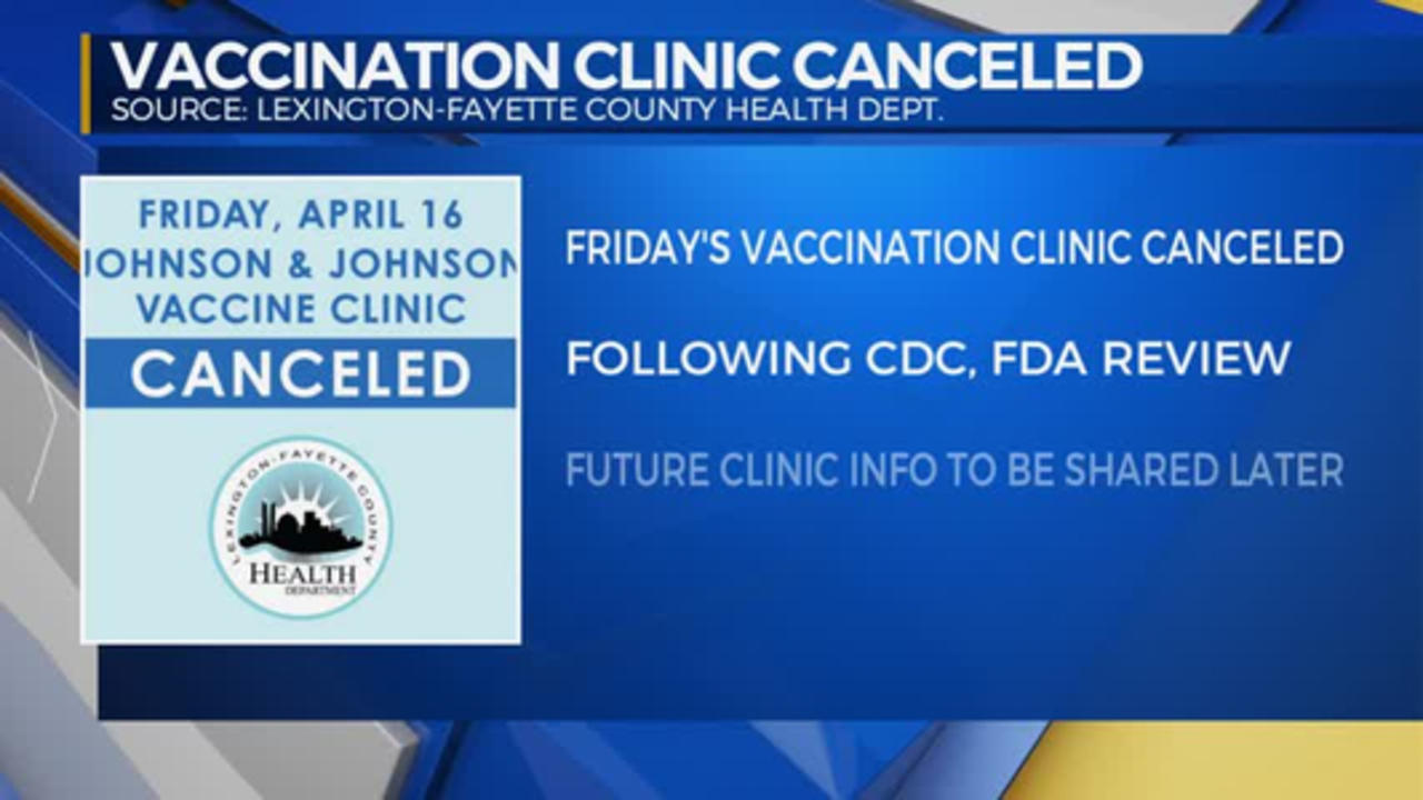 Vaccination Clinic Canceled