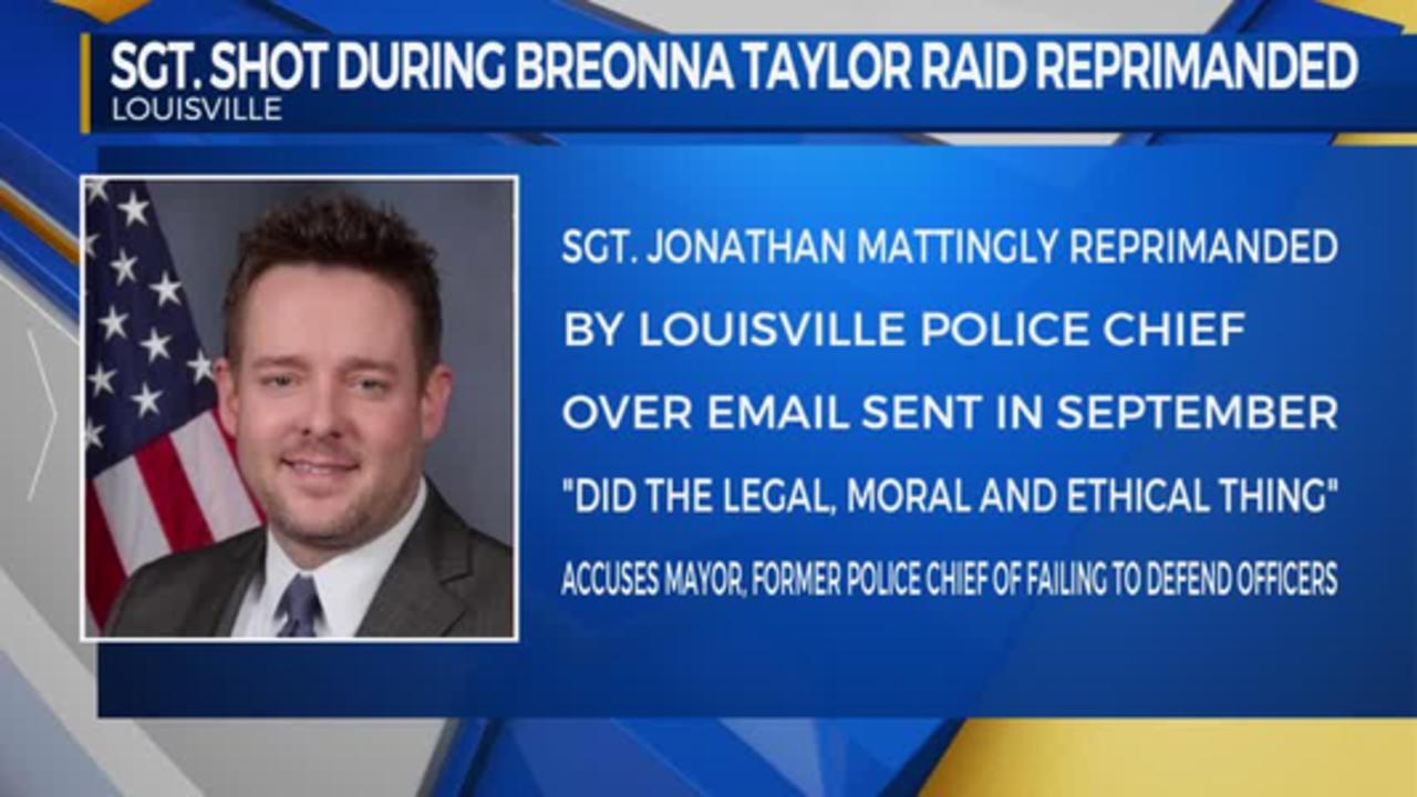 Sgt. Shot during Breonna Taylor Raid Reprimanded