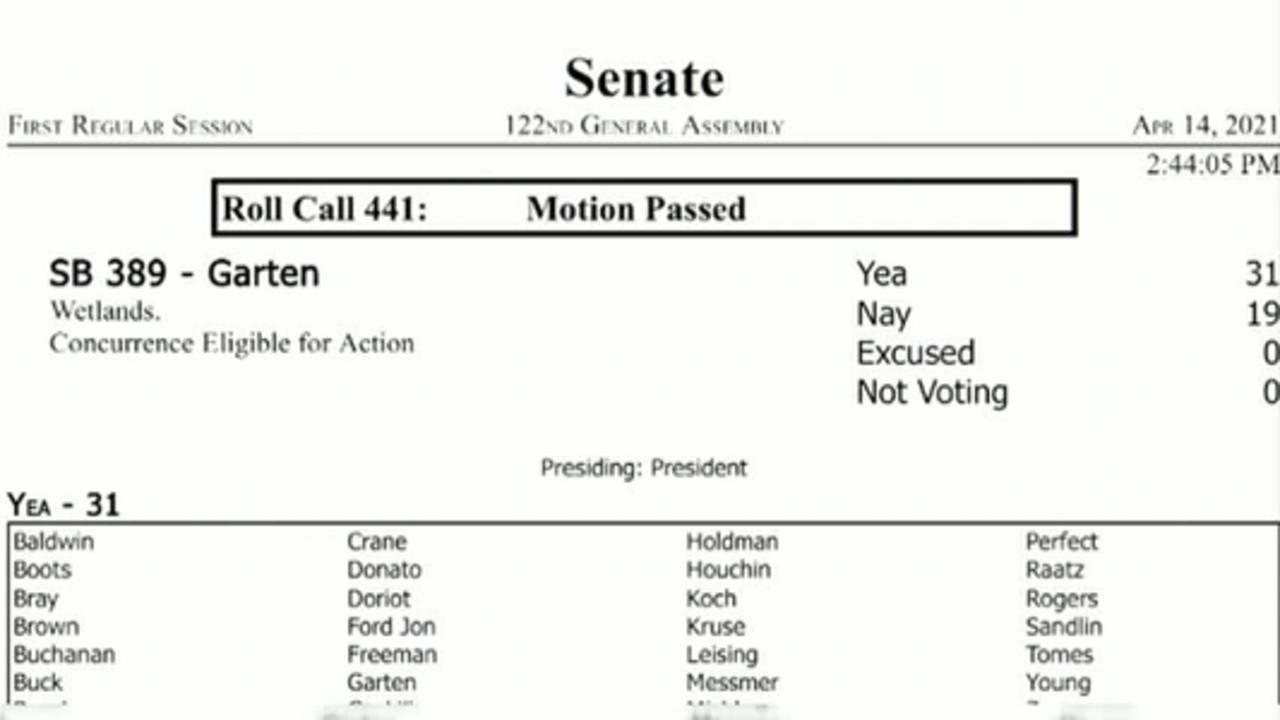 The wetlands bill is headed to Holcomb's desk