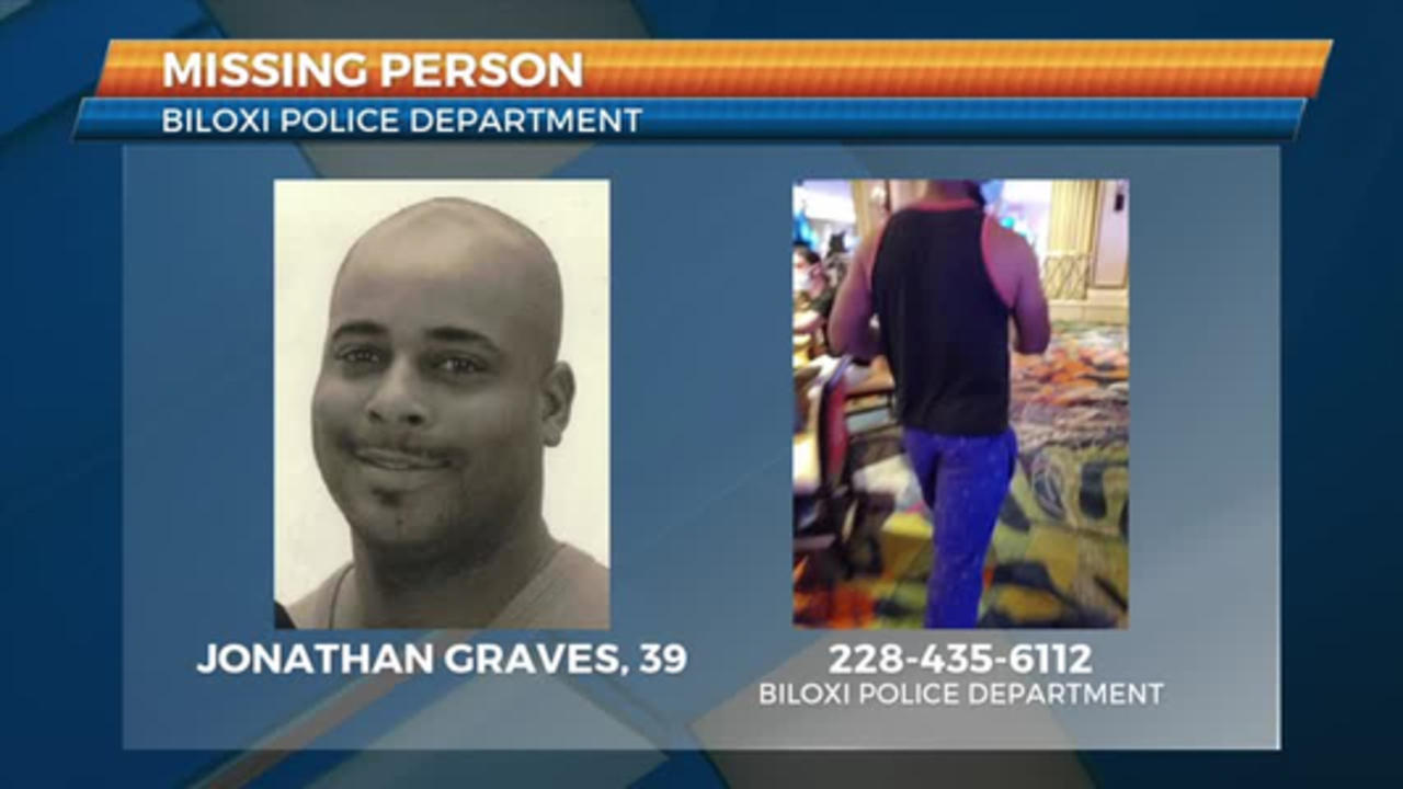Biloxi PD searching for missing person Jonathan Graves