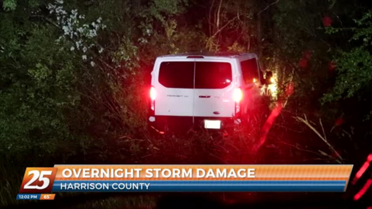 Overnight storm damage in Harrison County