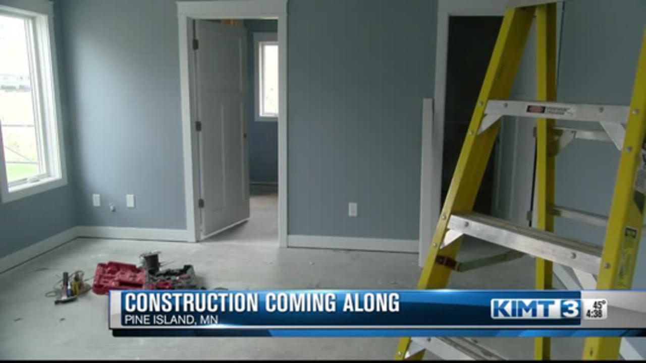 Construction coming along in Pine Island