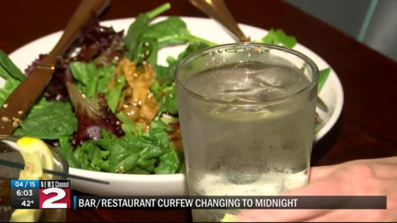 Curfew change for bars and restaurants
