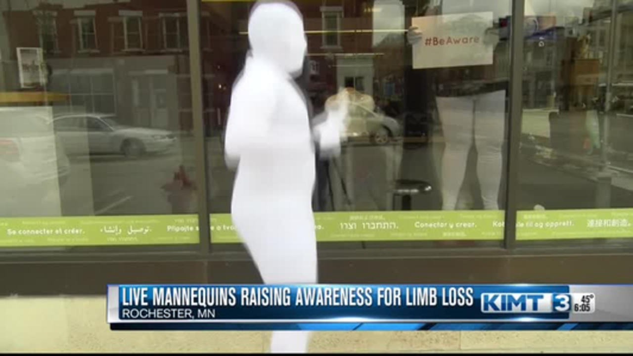 Live mannequins in Rochester raise awareness for limb loss