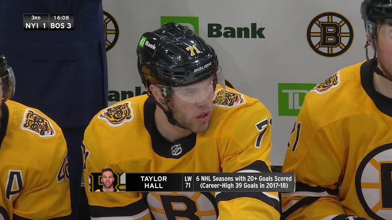 Taylor Hall scores his first as a Bruin with breakaway beauty