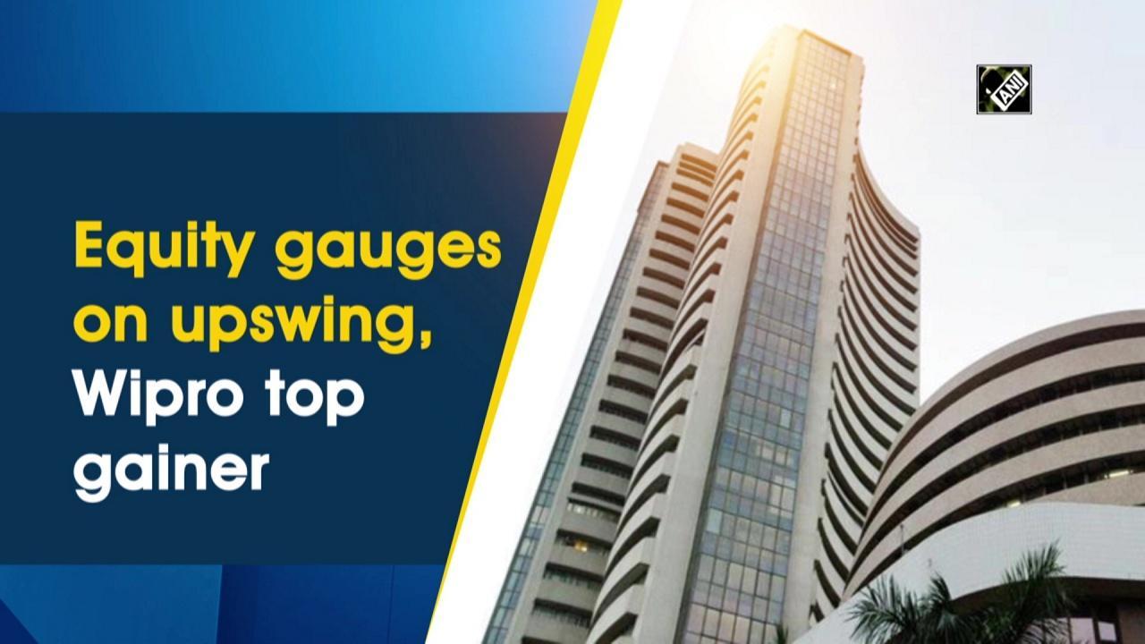Equity gauges on upswing, Wipro top gainer