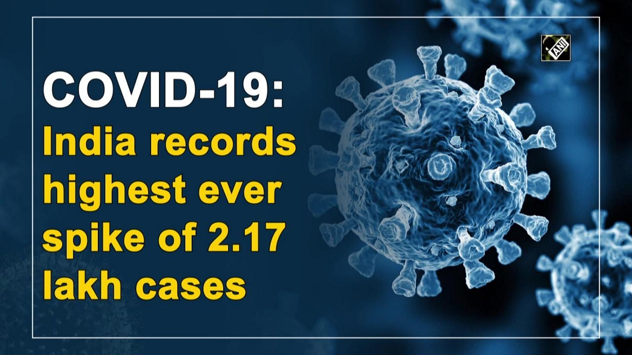 COVID-19: India records highest ever spike of 2.17 lakh cases