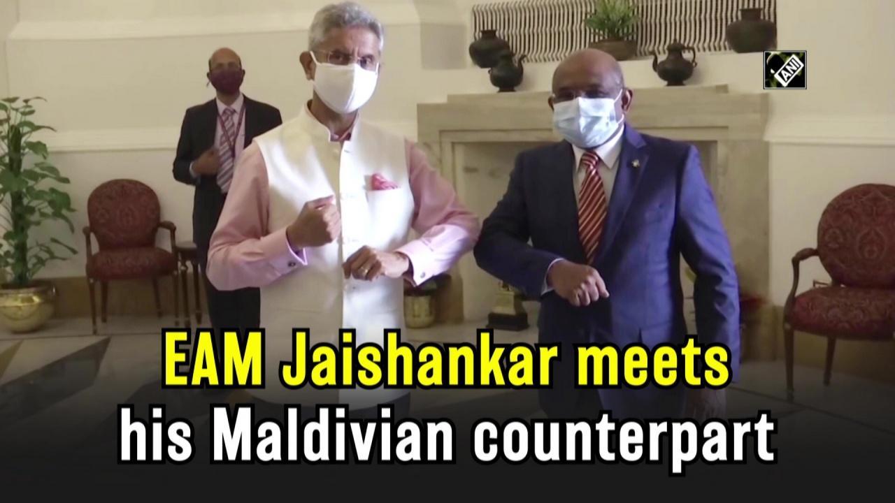 EAM Jaishankar meets his Maldivian counterpart
