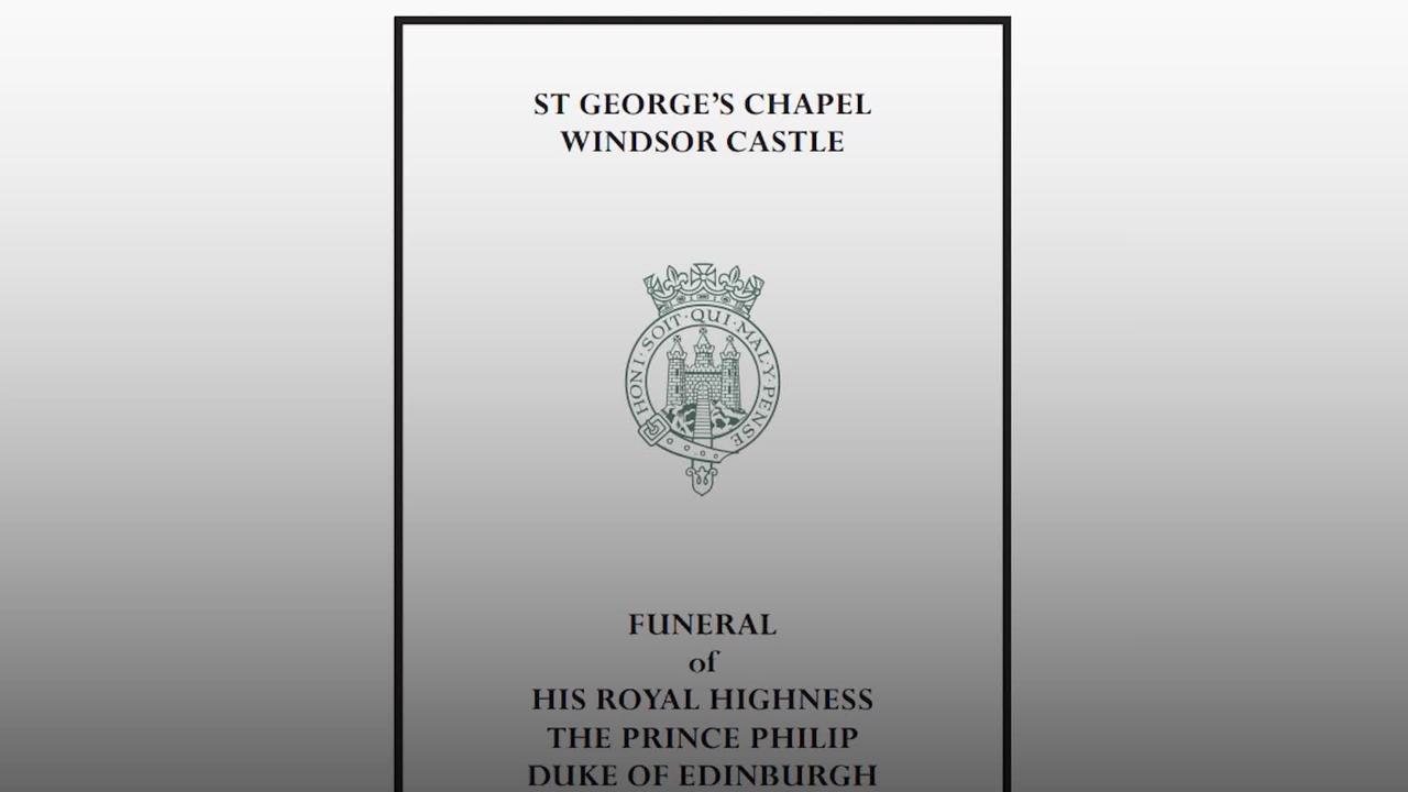 Buckingham Palace releases Duke of Edinburgh's order of service