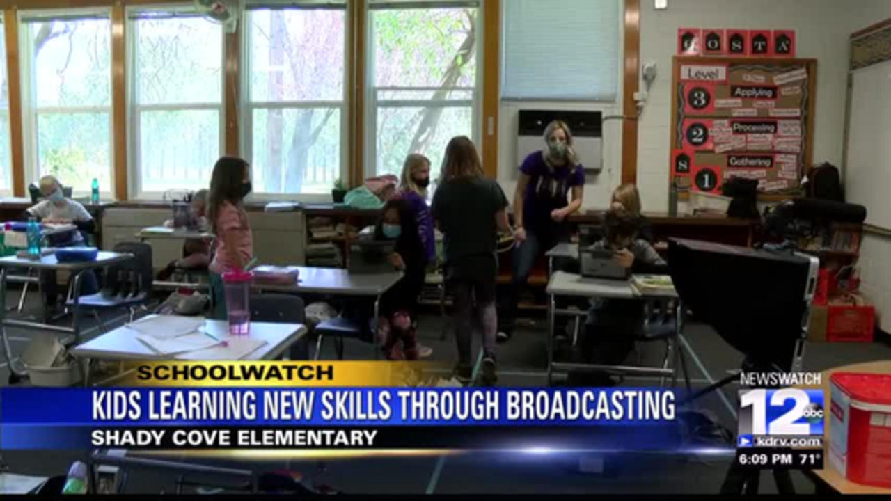 Shady Cove Elementary students learning new skills through broadcasting