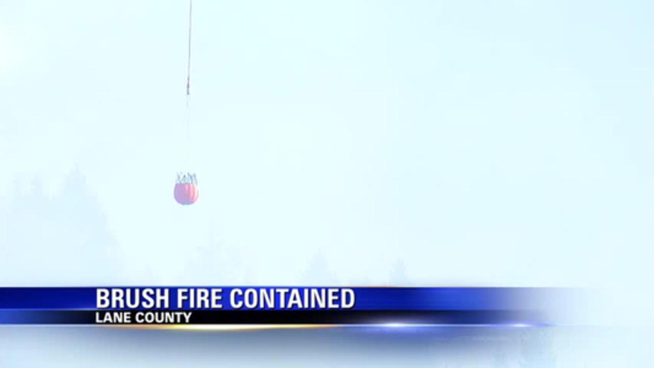 Brush fire breaks out near Springfield