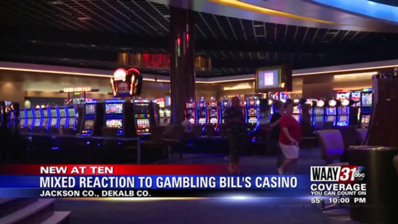 Mixed reaction to gambling bill's casino