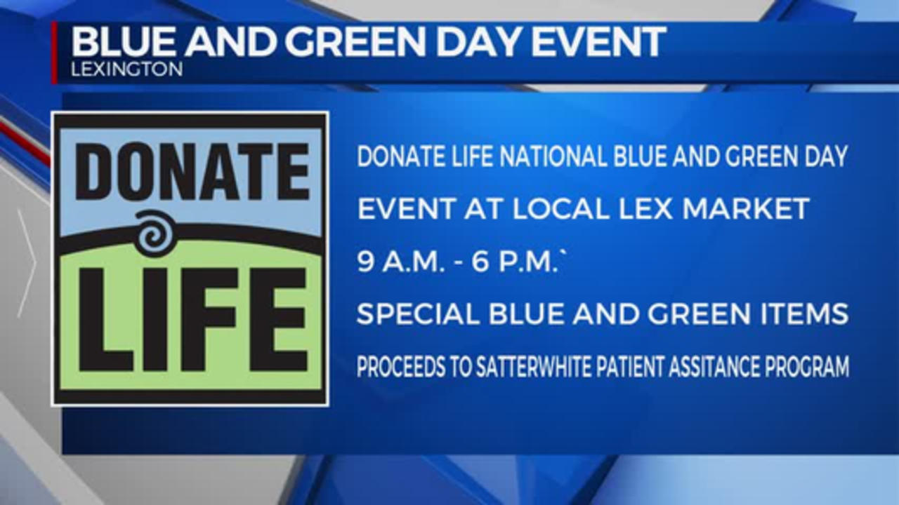 NATIONAL LIFE BLUE AND GREEN DAY