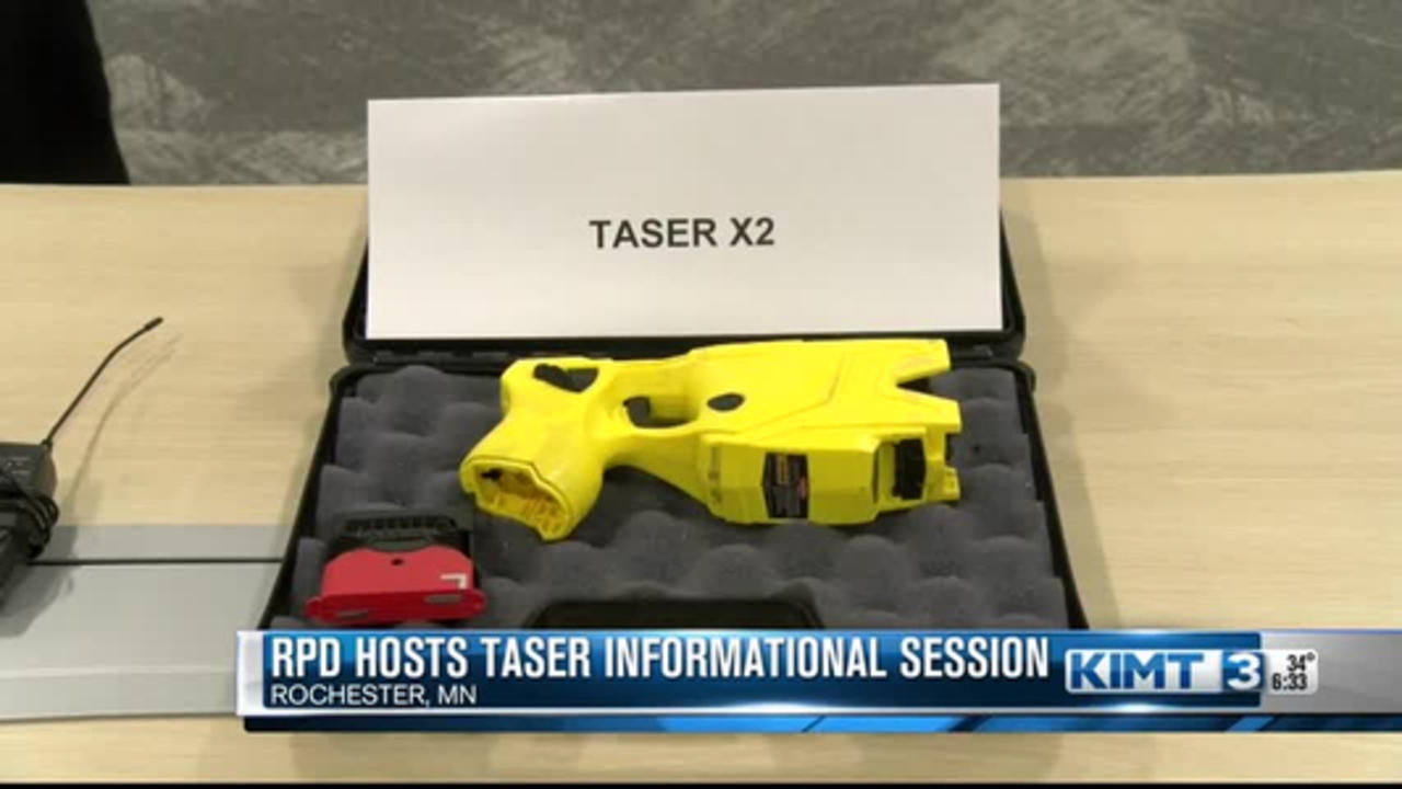 Rochester Police Department teaches the community about tasers