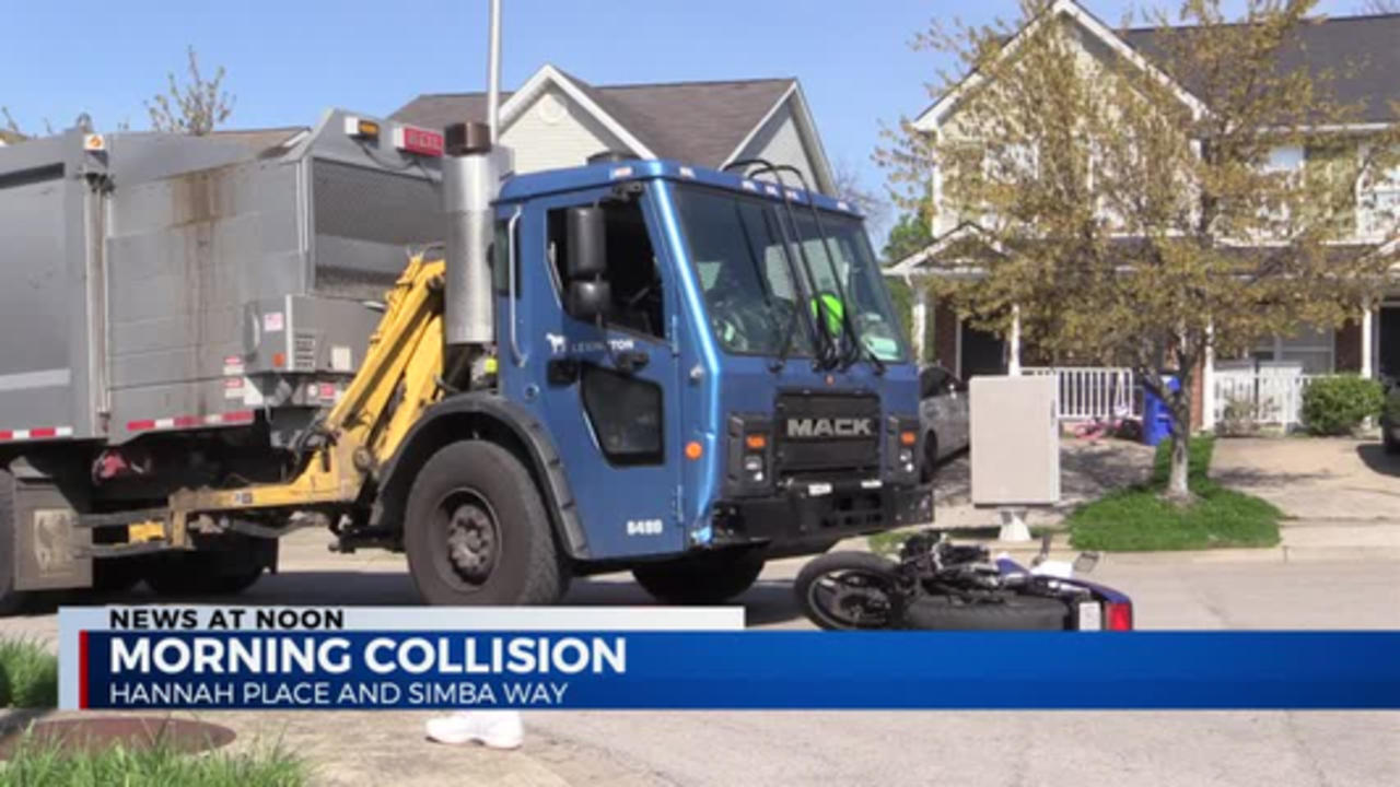 ACCIDENT INVOLVING CITY GARBAGE TRUCK
