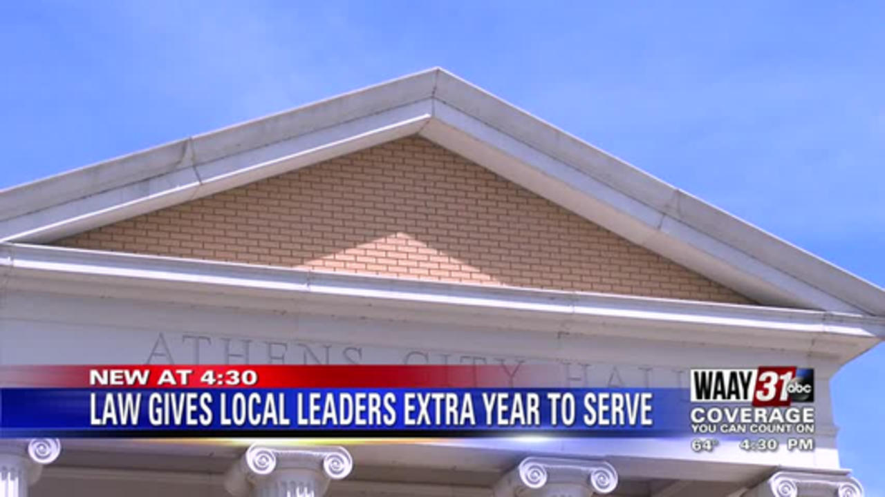New Alabama law gives most local leaders extra year to serve