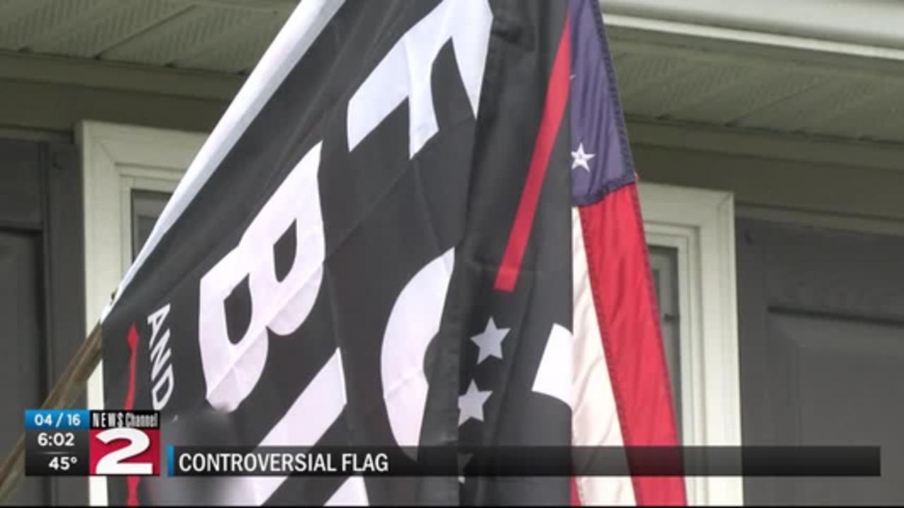 Anti-Biden flag in new York Mills causing controversy