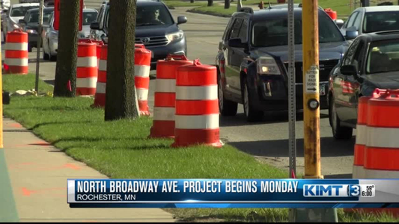 North Broadway Avenue project begins Monday