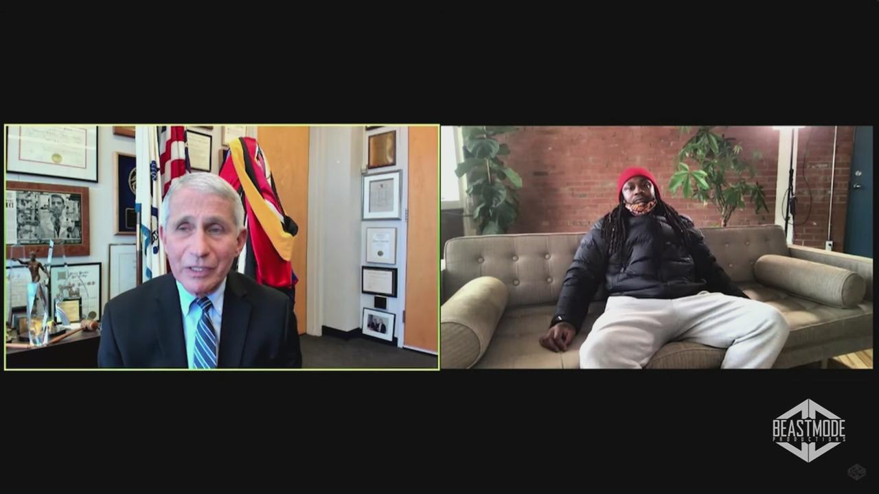 Marshawn Lynch Discusses Vaccine Reticence in Interview With Dr. Anthony Fauci