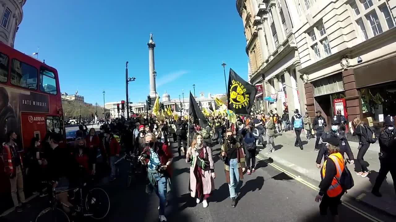 Kill the Bill protesters march through central London on day of Prince Philip's funeral