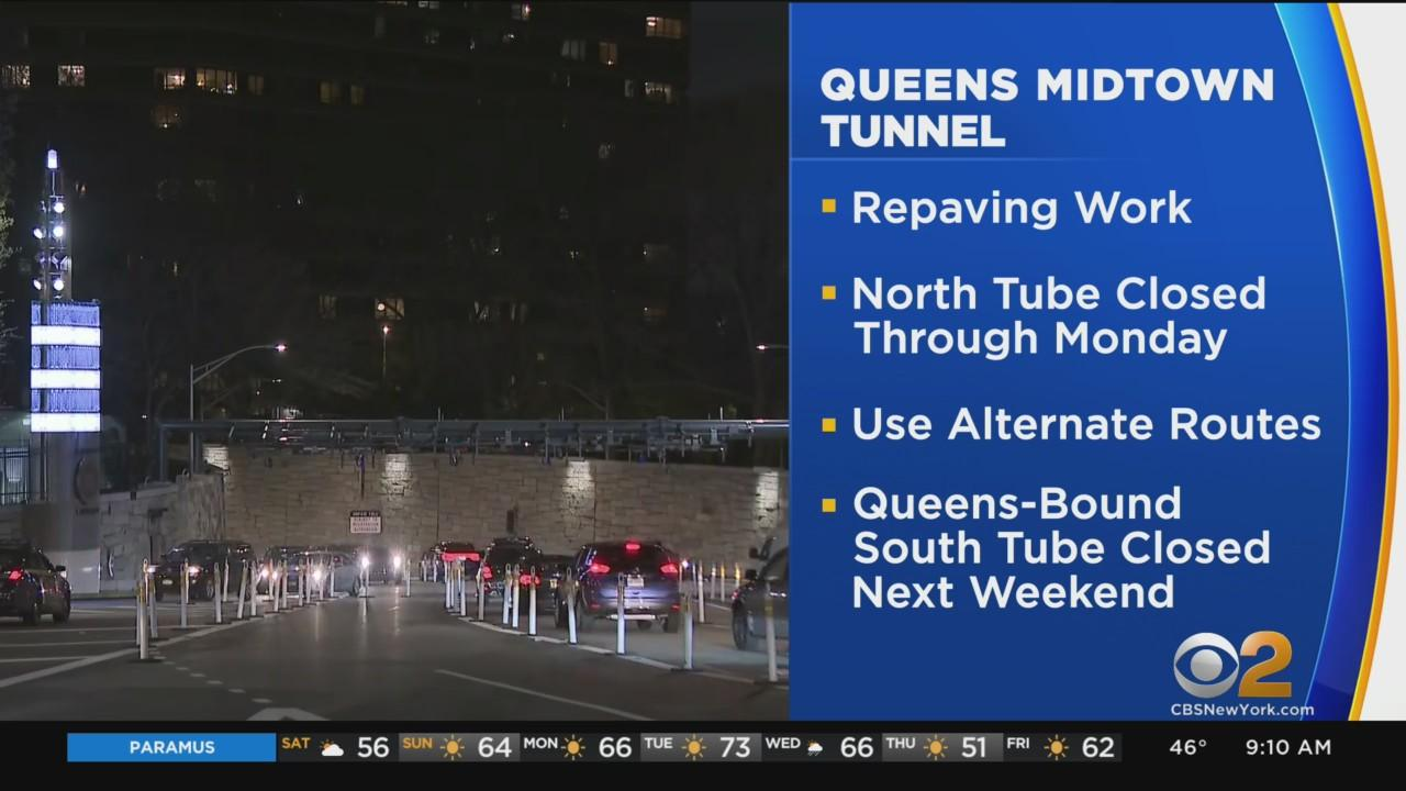 Manhattan-Bound Tube Of Midtown Tunnel Closed This Weekend