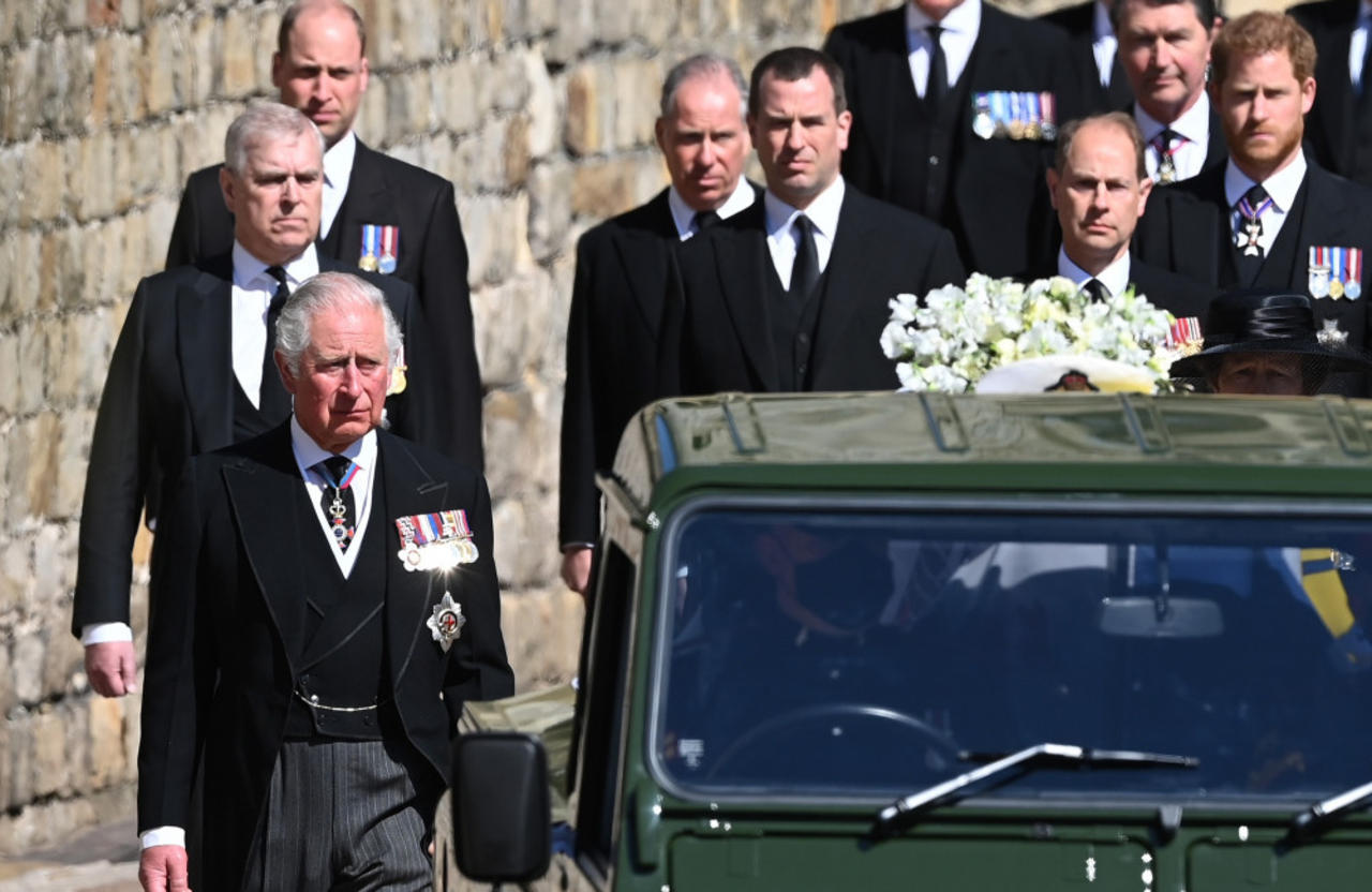 Prince William and Prince Harry were seated opposite each other at Prince Philip's funeral