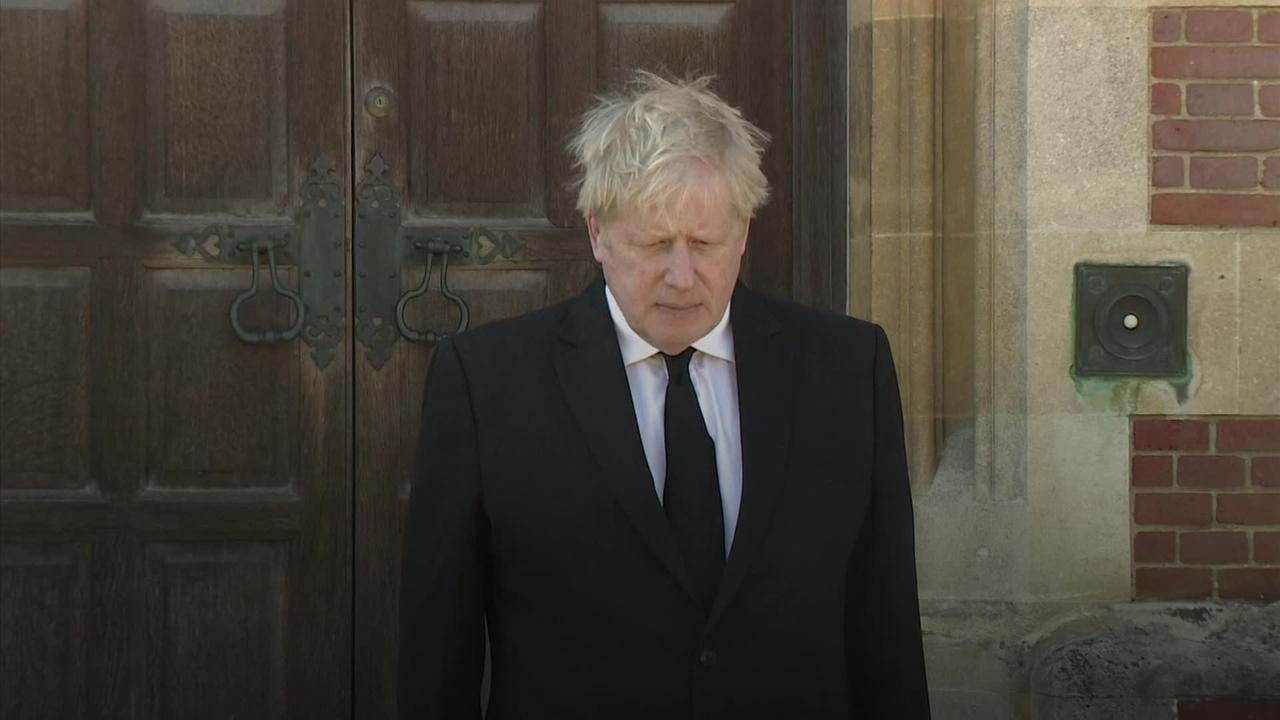 Boris Johnson joins national minute of silence for the Duke of Edinburgh