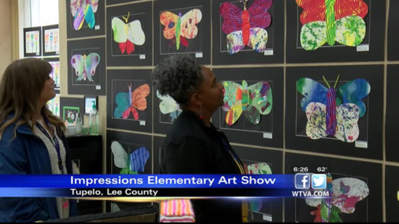 Impressions elementary art show in Lee County
