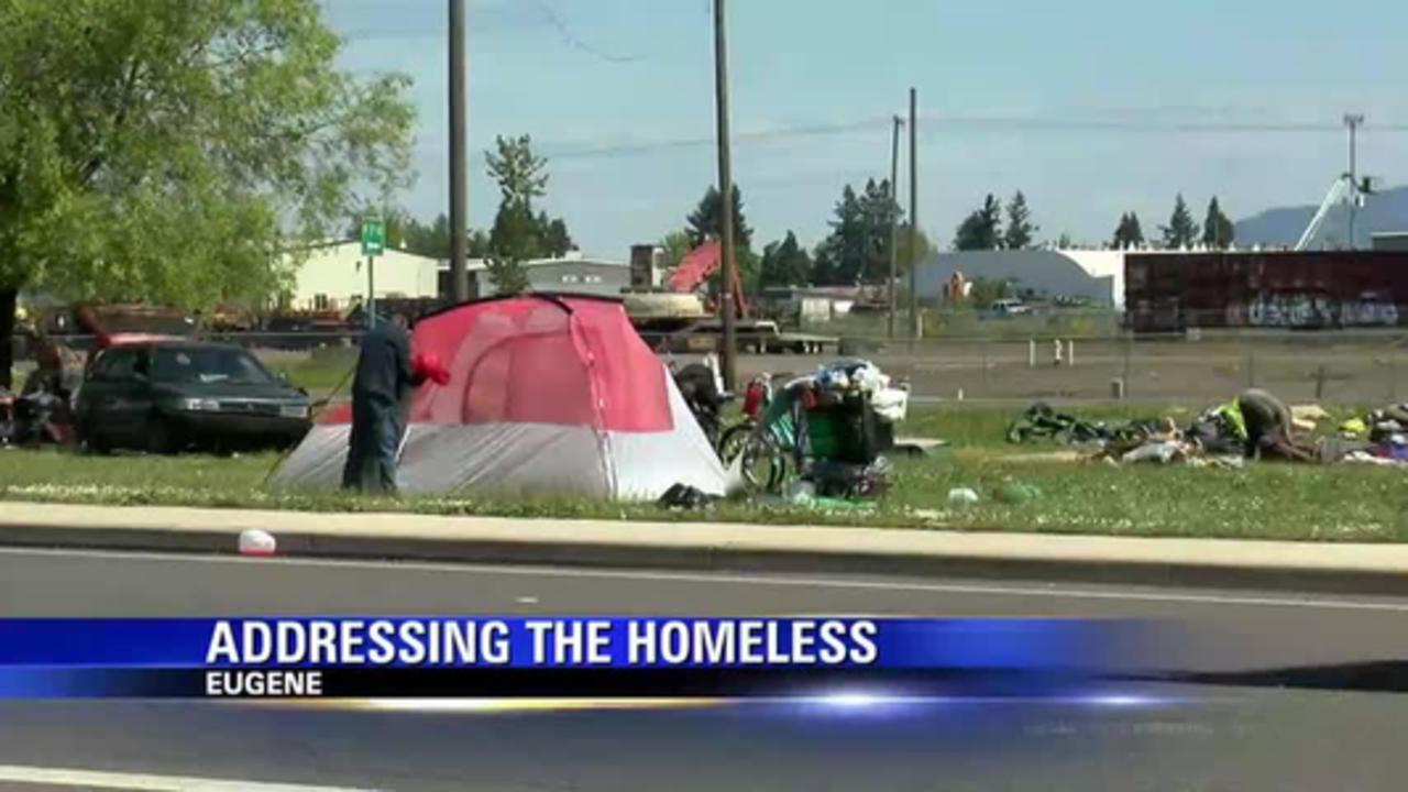 eugene mayor addresses homelessness