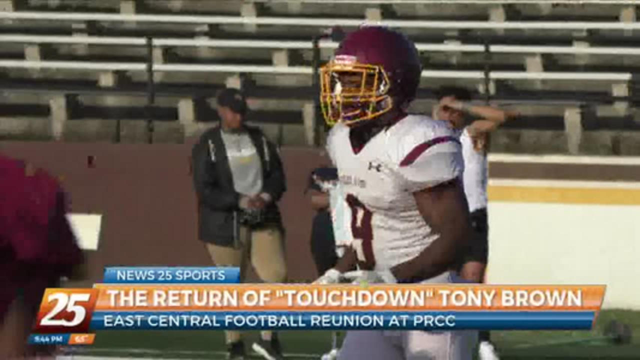 The return of 'Touchdown' Tony Brown: East Central reunion at PRCC