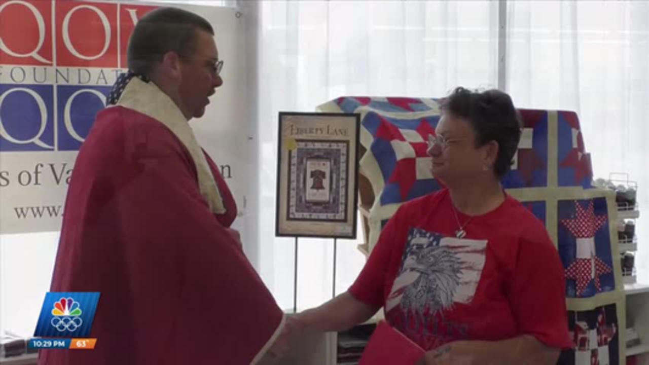 Quilts of Valor Ceremony at Coast Sew and Vac in Gulfport