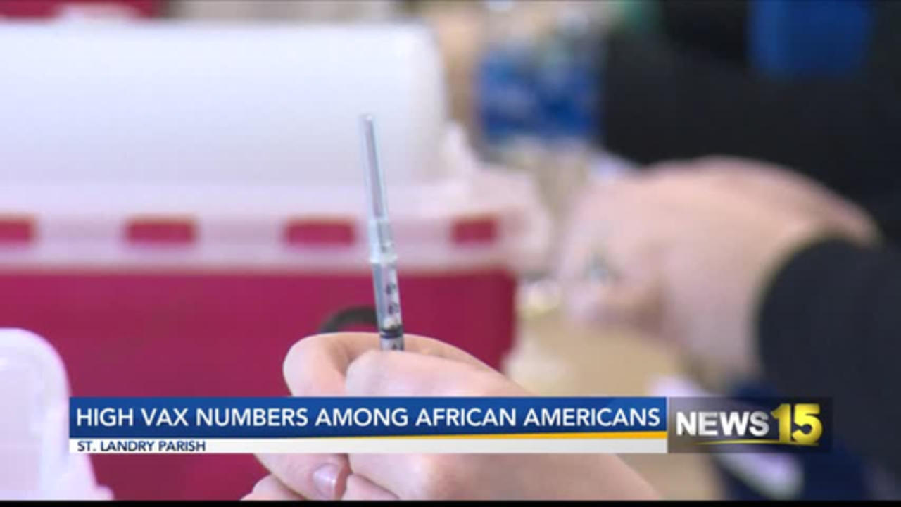 HIGH VAX NUMBERS AMONG AFRICAN AMERICANS