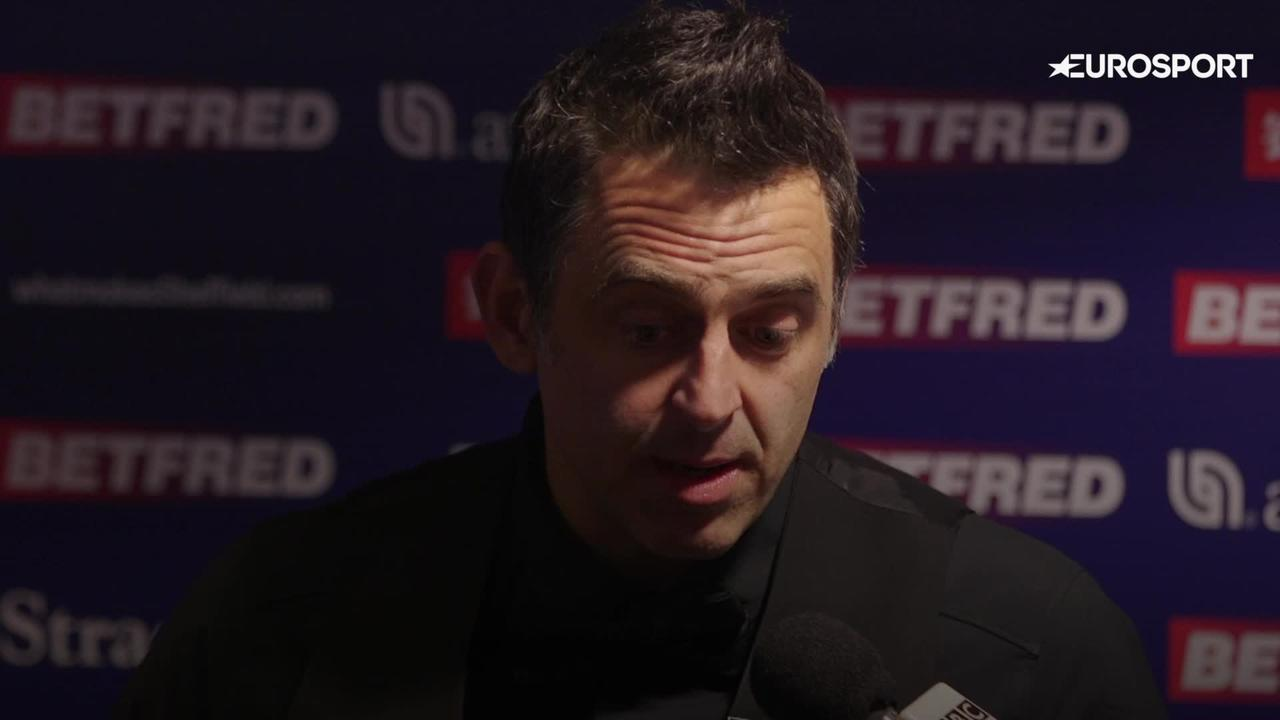 Ronnie O'Sullivan welcomes fans back to Crucible with victory in first round