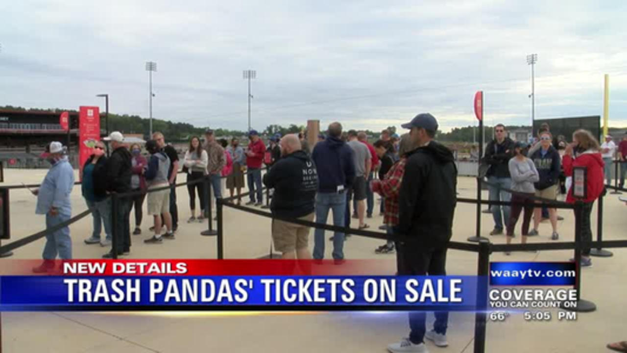 TRASH PANDAS' SINGLE GAME TICKETS ARE NOW FOR SALE