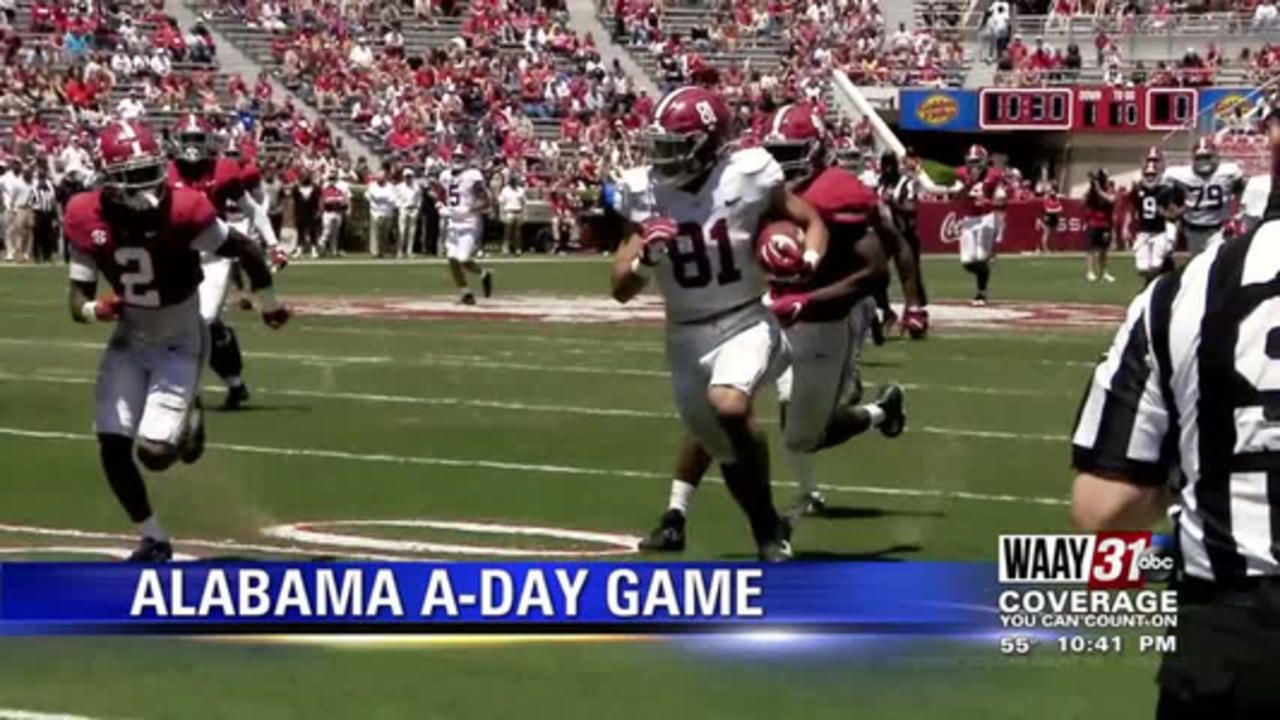 Highlights from Alabama and Auburn A-Day Games