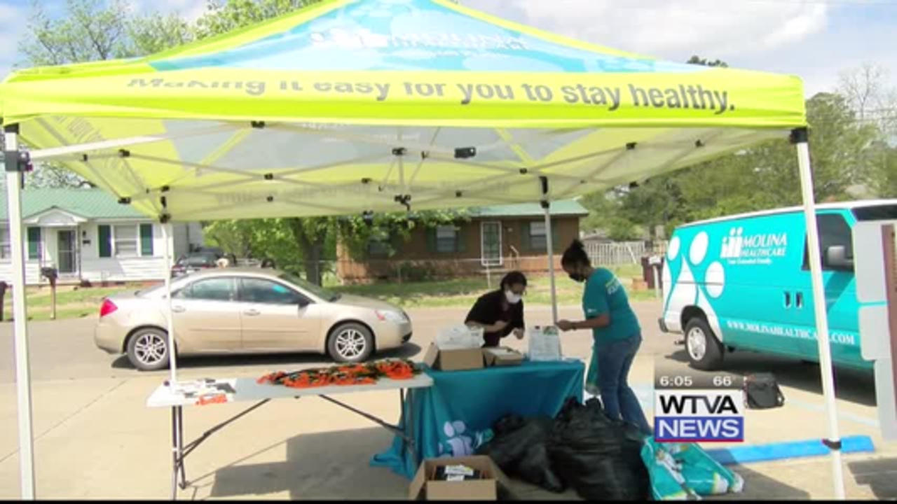 Okolona organizations hosted a household supply giveaway