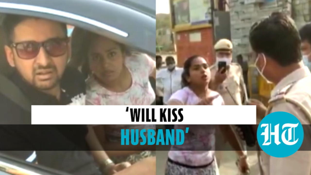 Watch: Delhi couple stopped for not wearing masks, misbehaves with cops