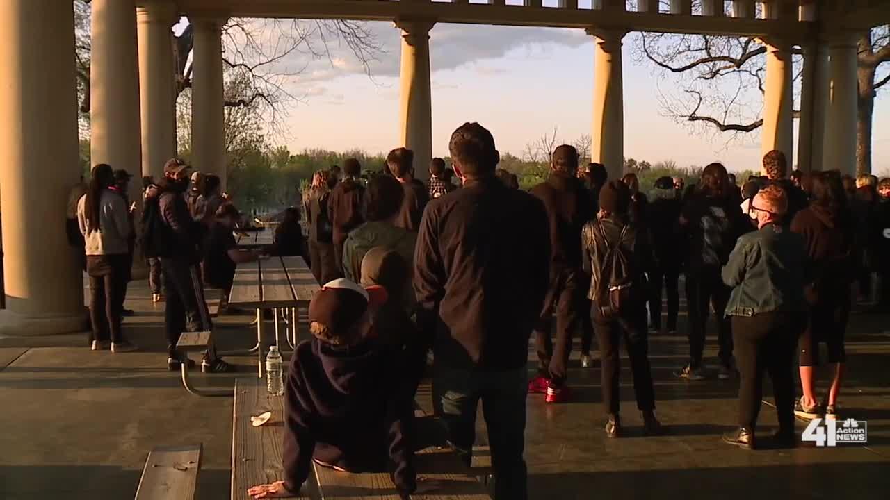 Black Rainbow KC holds candlelight vigil at Swope Park