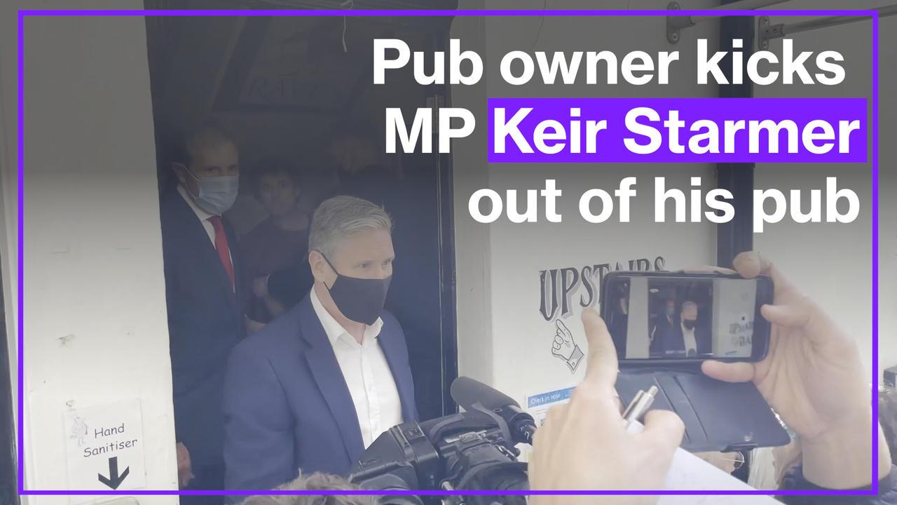 Disgruntled pub landlord kicks Labour Leader Keir Starmer out of his pub