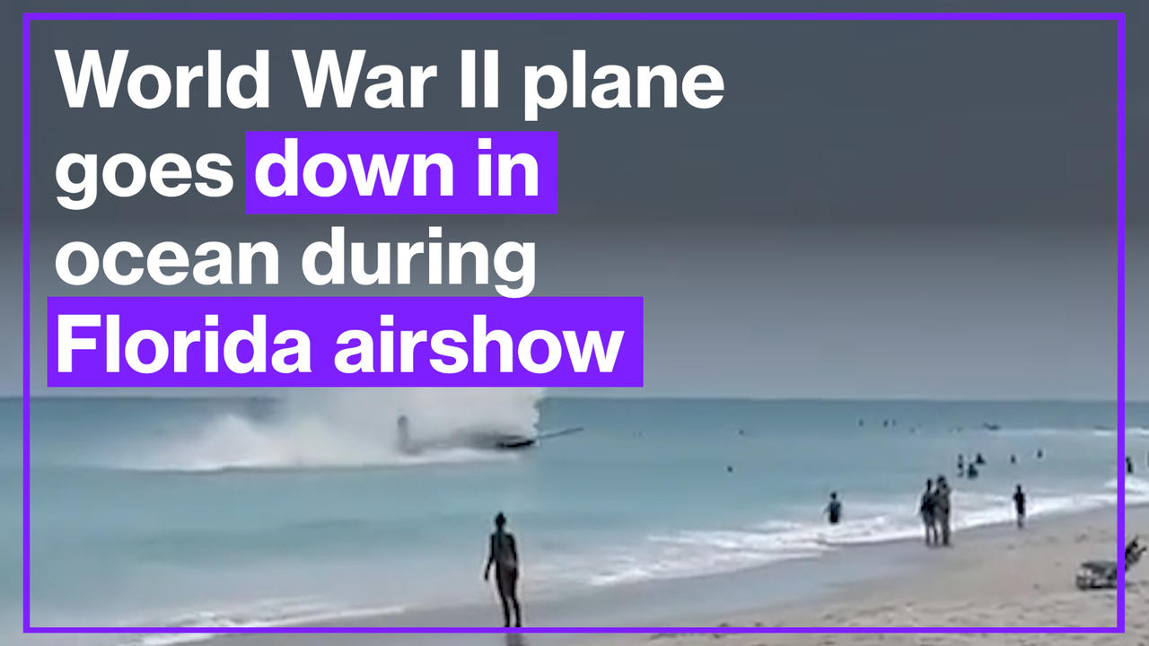 World War II plane goes down in ocean during Florida airshow