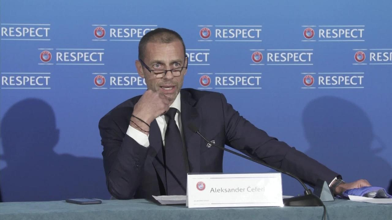 UEFA president: Players who take part in European Super League will be banned from World Cup and Euros