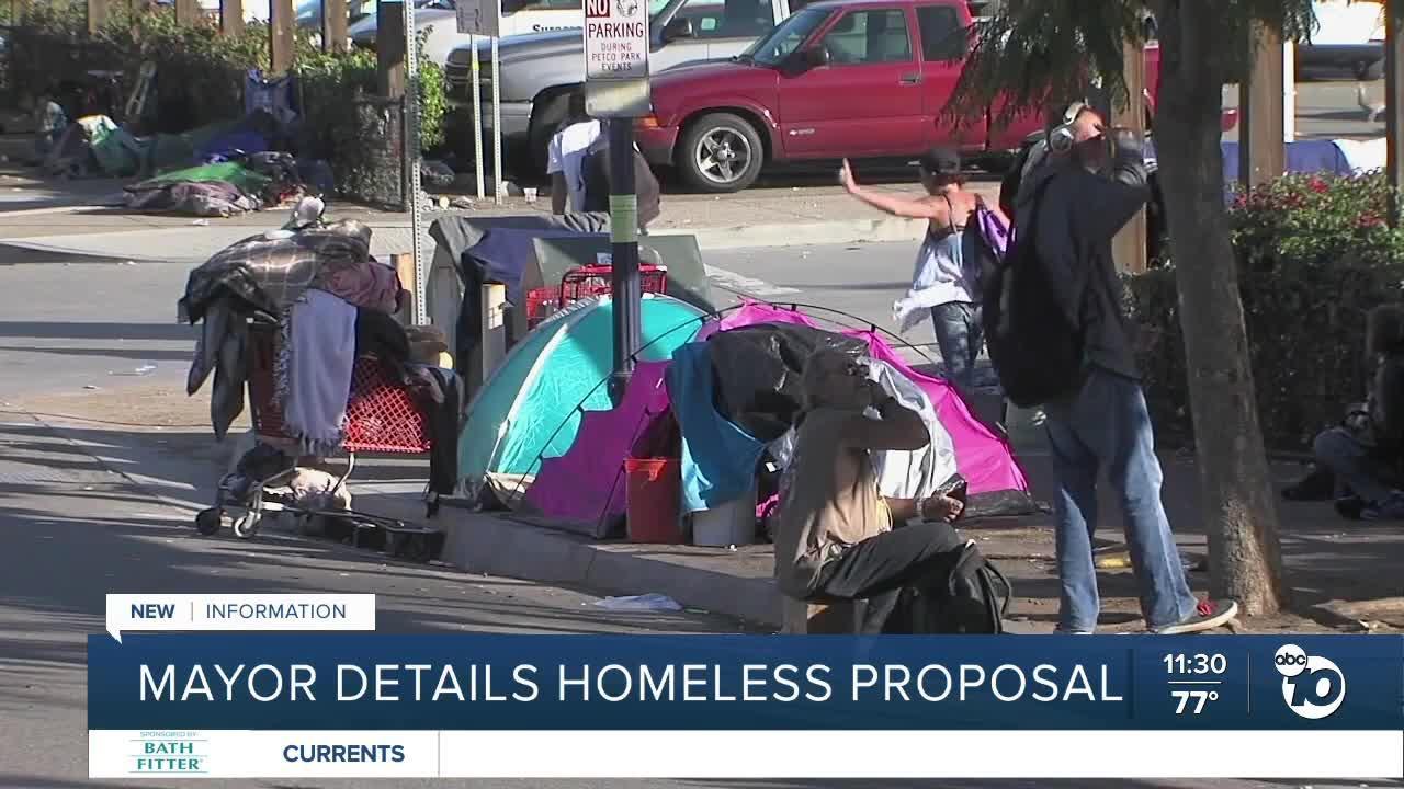 Mayor details homeless proposal